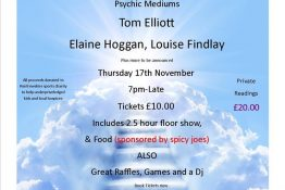Psychic Supper at Prolife Gym Paisley