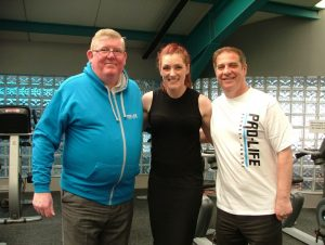 St Mirren commercial manager Campbell Kennedy, Gayle Brannigan, chief executive of Renfrewshire Sports Charity and fitness trainer at Pro-Life and saints chief executive Tony Fitzpatrick
