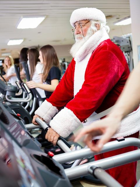 Santa trains at Prolife Gym Paisley East Renfrewshire