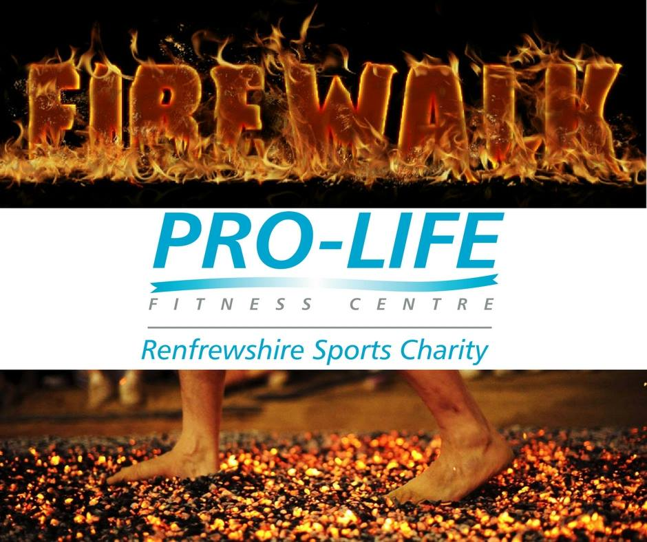 Charity Fire Walk by Pro-life fitness, paisley