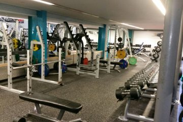 Weights area at Pro-life in Paisley