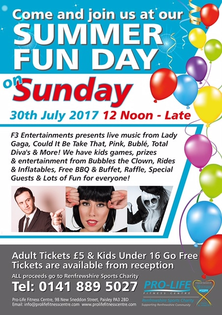 Summer fun day at Pro-lefe fitness centre