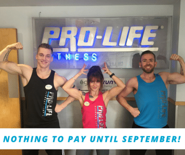 Pro-life gym membership nothing to pay till September