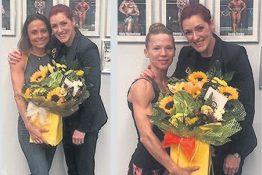 Pro-Life's Gayle Brannigan with Lisa Easdon, left, and Sarah McKenzie,